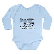 Motivational Saying Long Sleeve Infant Bodysuit