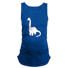 Brontosaurus Silhouette Maternity Tank Top