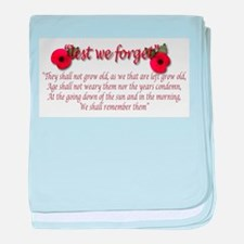 lest we forget baby blanket