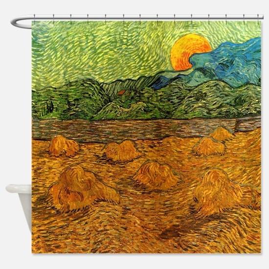Van Gogh Evening Landscape Shower Curtain