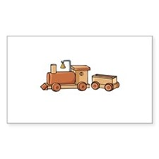 Wooden Train Rectangle Decal