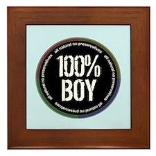 100% BOY Framed Tile