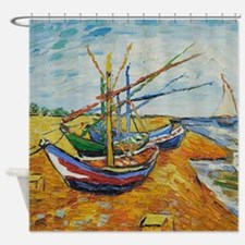 Van Gogh Boats At St Marie Shower Curtain