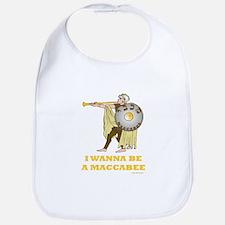 Wanna Be A Maccabee Hanukkah Bib