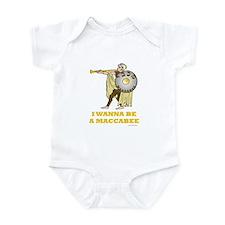 Wanna Be A Maccabee Hanukkah Infant Bodysuit