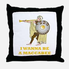 Wanna Be A Maccabee Hanukkah Throw Pillow