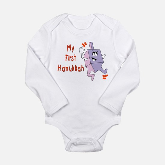 My First Hanukkah Long Sleeve Infant Bodysuit