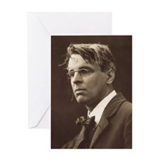 wb yeats Greeting Cards