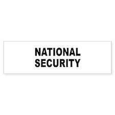 NATIONAL SECURITY T-SHIRT BOR Bumper Bumper Sticker