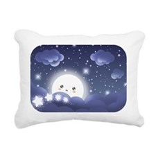 Kawaii Moon Rectangular Canvas Pillow
