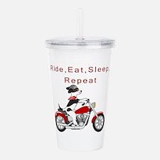 Biker Dog- Acrylic Double-Wall Tumbler