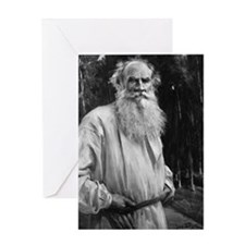 leo tolstoy Greeting Cards