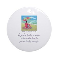 At the Beach Ornament (Round)