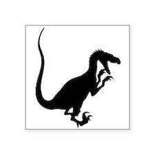 Velociraptor Silhouette Sticker