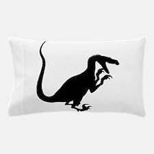 Velociraptor Silhouette Pillow Case