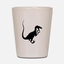 Velociraptor Silhouette Shot Glass