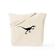 Velociraptor Silhouette Tote Bag