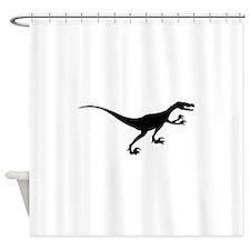 Velociraptor Silhouette Shower Curtain