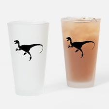 Velociraptor Silhouette Drinking Glass