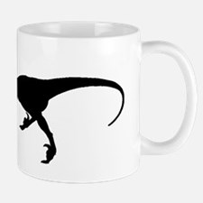 Velociraptor Silhouette Mugs