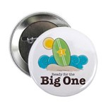 Ready For The Big One Beach Surf Button 10 pk