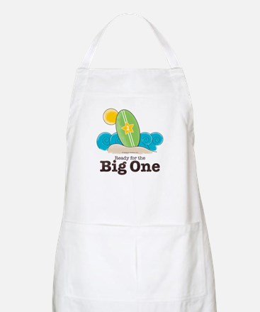 Ready For The Big One Beach Surf Craft Art Apron