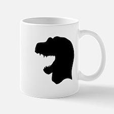 Tyrannosaurus Rex Head Silhouette Mugs