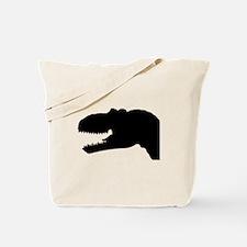 T-Rex Head Silhouette Tote Bag