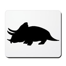 Triceratops Silhouette Mousepad