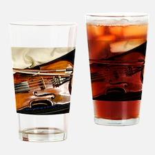 Vintage Violin Drinking Glass