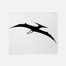 Pterodactyl Silhouette Throw Blanket
