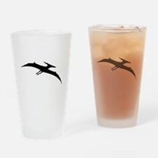 Pterodactyl Silhouette Drinking Glass