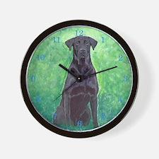 Labrador Retriever Black Lab 2 Wall Clock
