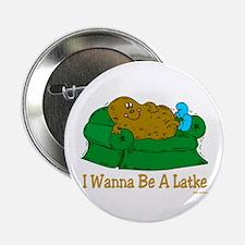 "Funny Hanukkah Latke 2.25"" Button (10 pack)"