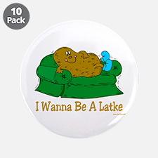 "Funny Hanukkah Latke 3.5"" Button (10 pack)"