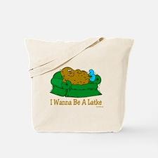 Funny Hanukkah Latke Tote Bag