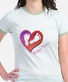 Heart & Baby Footprints T
