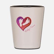 Heart & Baby Footprints Shot Glass