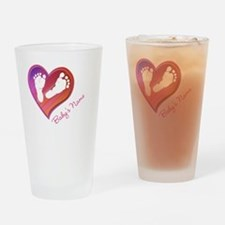 Heart & Baby Footprints Drinking Glass