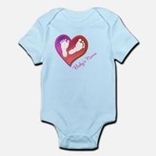 Heart & Baby Footprints Infant Bodysuit