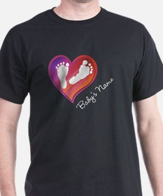 Heart & Baby Footprints T-Shirt