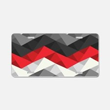 Abstract Chevron Aluminum License Plate