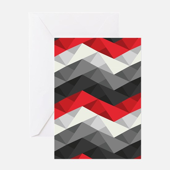 Abstract Chevron Greeting Card