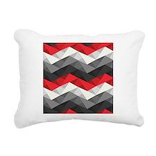 Abstract Chevron Rectangular Canvas Pillow