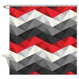 Abstract chevron Shower Curtains