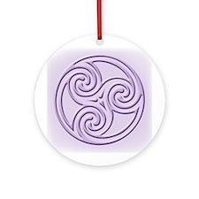 Triskel In Lavendar Ornament (round)