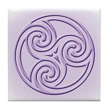 Triskel in Lavendar Tile Coaster
