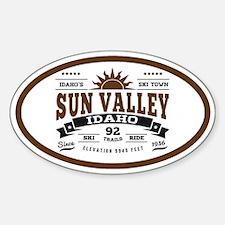 Sun Valley Vintage Sticker (Oval)
