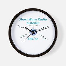 Short Wave Radio Listener Wall Clock