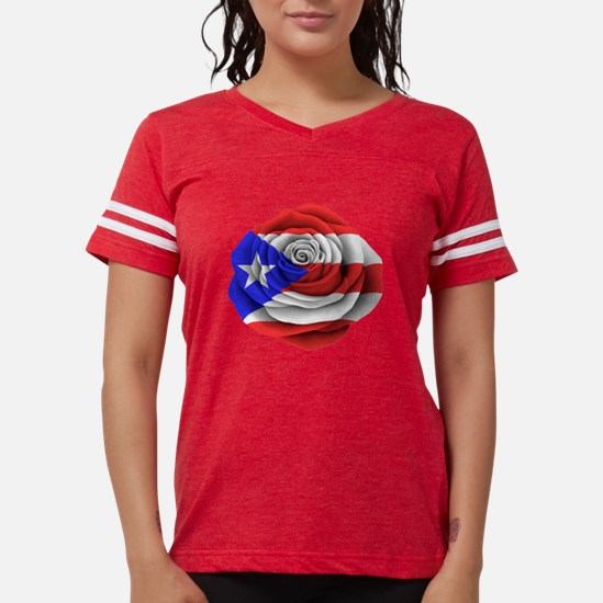 Puerto Rican Rose Flag T-Shirt